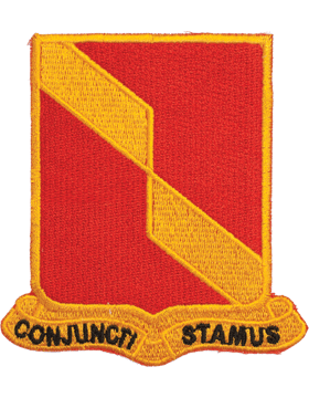 N-DUI-0027 27 Field Artillery inConjuncti Stamusin Patch with Heat Seal 3 1/2in