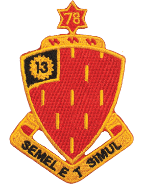 N-DUI-0078 78 Field Artillery inSemel Et Simulin Patch with Heat Seal 3 1/2in