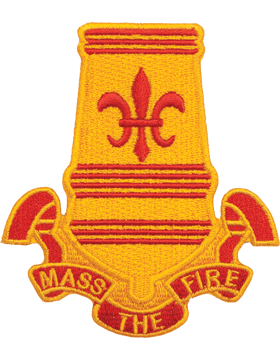 N-DUI-0082 82 Airborne Div Artillery inMass The Firein Patch with Heat Seal 3 1/
