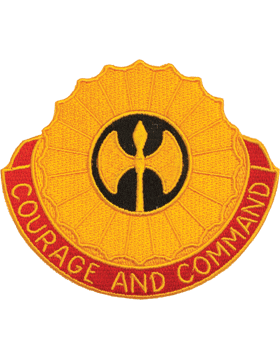 N-DUI-0212 212 Field Artillery inCourage And Commandin Patch with Heat Seal 3 1/ small