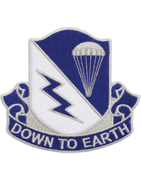 N-DUI-0507 507 Infantry inDown To Earthin Patch with Heat Seal 3 1/2in
