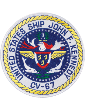 N-NY001 United States Ship John F. Kennedy CV-67 Round Patch 5in