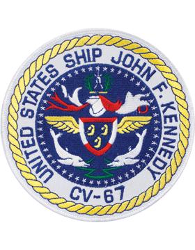 N-NY001 United States Ship John F. Kennedy CV-67 Round Patch 5