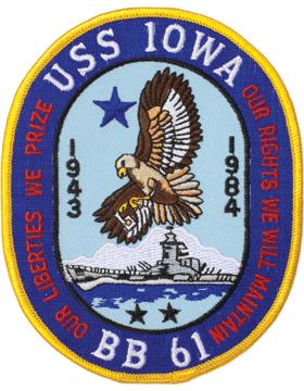 N-NY002 U.S.S. Iowa BB 61 Oval 4 3/4