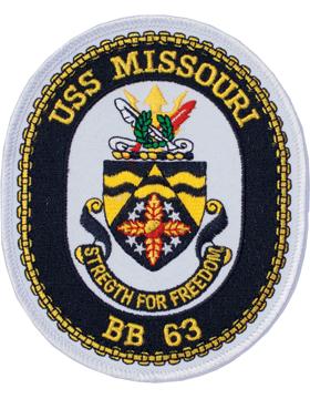 N-NY003 U.S.S. Missouri BB 63 Oval 4 3/4