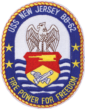 N-NY004 U.S.S. New Jersey BB 62 Oval 4 3/4in