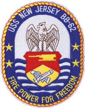 N-NY004 U.S.S. New Jersey BB 62 Oval 4 3/4