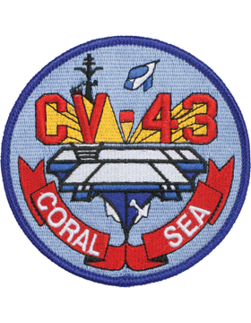 N-NY007 Coral Sea CV-43 Round Patch 4in