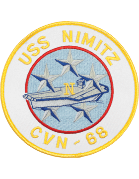 N-NY009 U.S.S. Nimitz CVN-68 Round Patch 5in