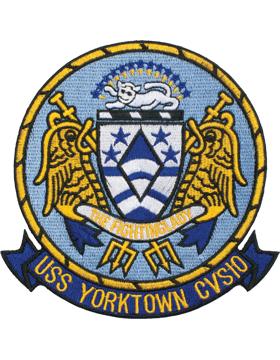 N-NY010 U.S.S. Yorktown CV-SIO Oval 4 3/4