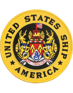 N-NY012 United States Ship America Round Patch 5in