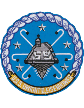 N-NY013 U.S.S. Dwight D. Eisenhower Round Patch 5in