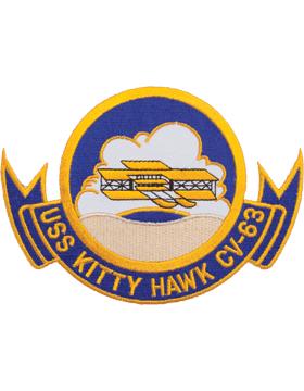 N-NY015 U.S.S. Kitty Hawk CV-63 Oval 5 1/2
