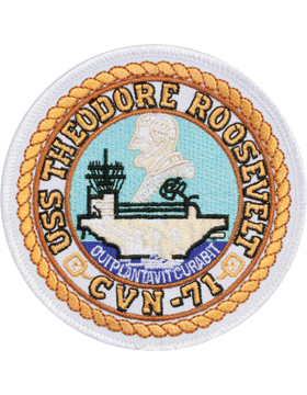 N-NY017 U.S.S. Theodore Roosevelt CVN-71 Round Patch 4