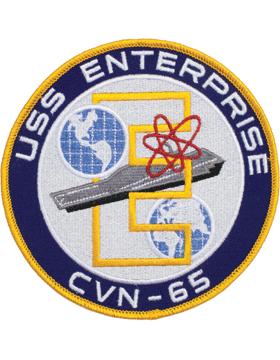 N-NY019 U.S.S. Enterprise CVN-65 Round Patch 5