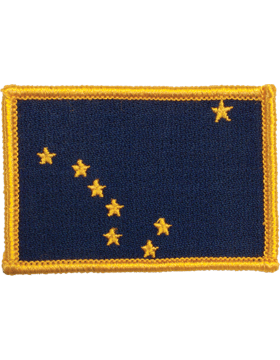 Alaska 2in x 3in Flag (N-S-AK1) with Gold Border