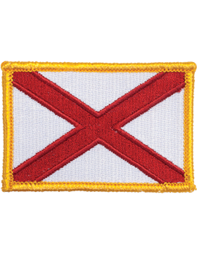 Alabama 2in x 3in Flag (N-S-AL1) with Gold Border