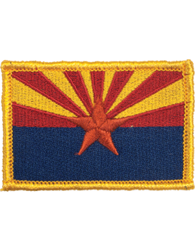 Arizona 2in x 3in Flag (N-S-AZ1) with Gold Border