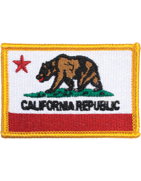 California 2in x 3in Flag (N-S-CA1) with Gold Border