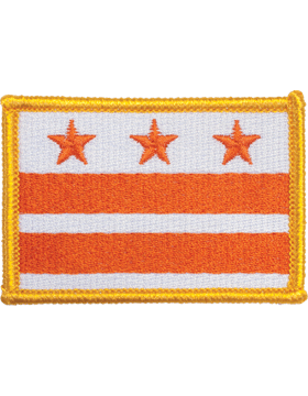 District Of Columbia 2in x 3in Flag (N-S-DC1) with Gold Border
