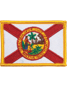 Florida 2in x 3in Flag (N-S-FL1) with Gold Border