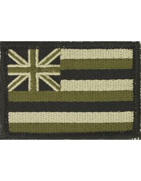 N-S/HI2, 2in X 3in HAWAII FLAG MULICAM/NO FASTENER