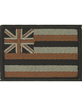 N-S/HI3, 2in X 3in HAWAII FLAG ACU /NO FASTENER small