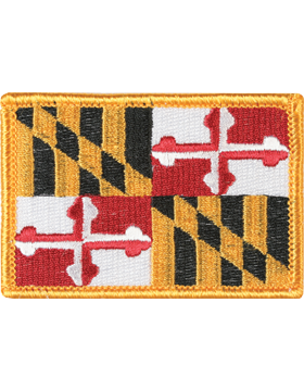 Maryland 2in x 3in Flag (N-S-MD1) with Gold Border