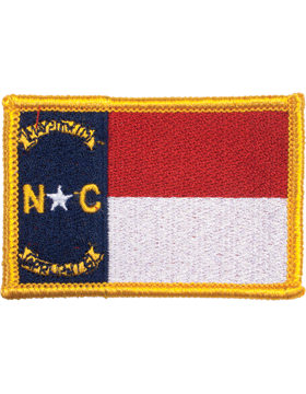 North Carolina 2in x 3in Flag (N-S-NC1) with Gold Border