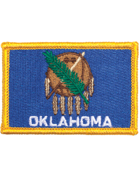 Oklahoma 2in x 3in Flag (N-S-OK1) with Gold Border
