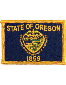 Oregon 2in x 3in Flag (N-S-OR1) with Gold Border