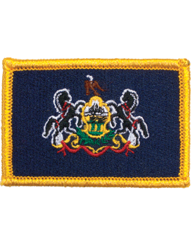 Pennsylvania 2in x 3in Flag (N-S-PA1) with Gold Border