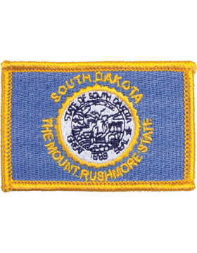 South Dakota 2in x 3in Flag (N-S-SD1) with Gold Border small