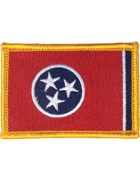 Tennessee 2in x 3in Flag (N-S-TN1) with Gold Border