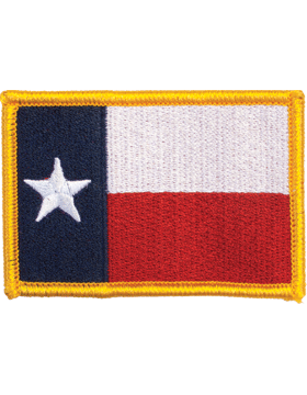 Texas 2in x 3in Flag (N-S-TX1) with Gold Border small