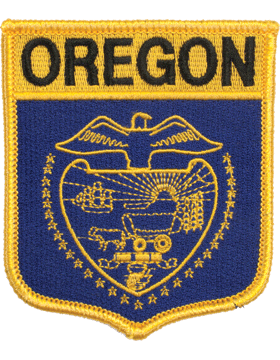 Oregon 3.75in Shield (N-SS-OR1) with Gold Border