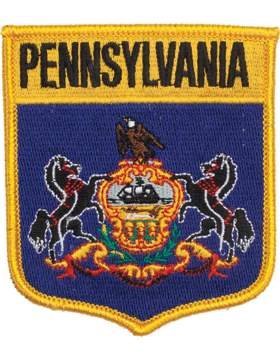 Pennsylvania 3.75in Shield (N-SS-PA1) with Gold Border