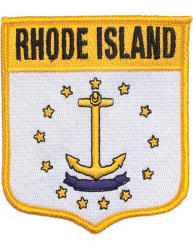 Rhode Island 3.75in Shield (N-SS-RI1) with Gold Border