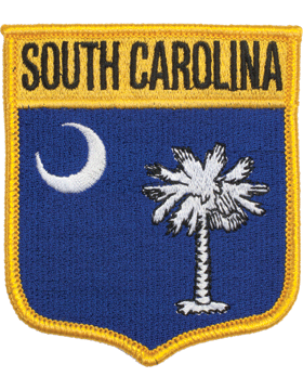 South Carolina 3.75in Shield (N-SS-SC1) with Gold Border