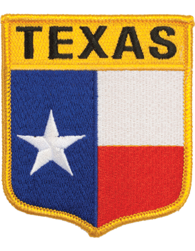 Texas 3.75in Shield (N-SS-TX1) with Gold Border