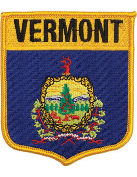 Vermont 3.75in Shield (N-SS-VT1) with Gold Border