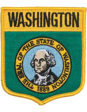 Washington 3.75in Shield (N-SS-WA1) with Gold Border