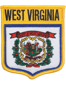 West Virginia 3.75in Shield (N-SS-WV1) with Gold Border