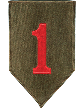 Organization 6in Patch 1 Infantry Division with Heat Seal Full Color