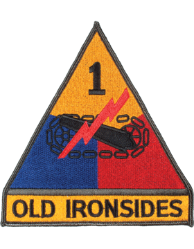Organization 6in Patch 1 Armor Division with Tab and Heat Seal Full Color