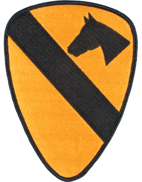 Organization 6in Patch 1 Cavalry Division with Heat Seal Full Color