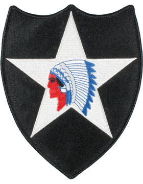 Organization 6in Patch 2 Infantry Division with Heat Seal Full Color small