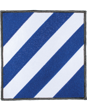 Organization 6in Patch 3 Infantry Division with Heat Seal Full Color