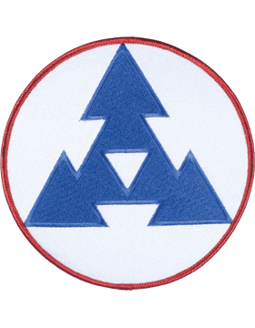 Organization 6in Patch 3 Corps Support Command with Heat Seal Full Color