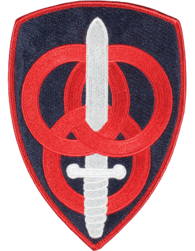 Organization 6in Patch 3 Personnel Command with Heat Seal Full Color